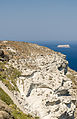 Crater rim - view from Athinios port - Santorini - Greece - 02.jpg