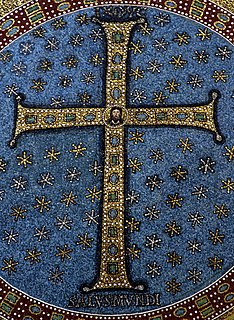 <i>Crux gemmata</i> form of cross typical of Early Christian and Early Medieval art