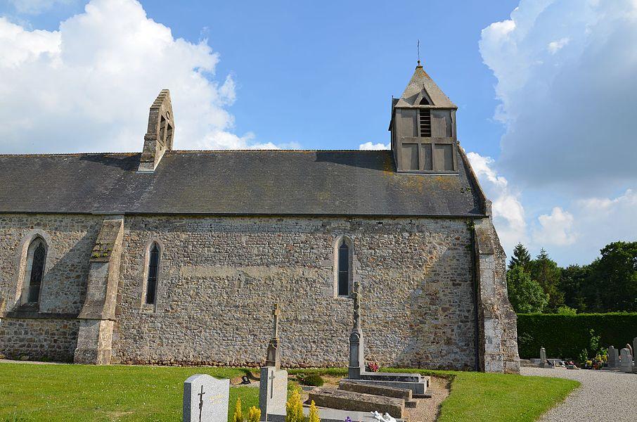 Église Saint-Gervais et Saint-Protais de Crosville-sur-Douve.