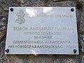 Csáfordi és jobaházi Török Antóniusz Flórián emléktábla (2001), 2019 Tapolca.jpg