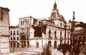 Cuartel General de Bomberos luego de Terremoto de 1906 en Valparaíso.jpg