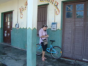Cuban with a bike