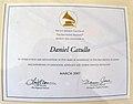 Daniel Catullo Recording Artist of American Certificate.jpg