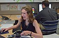 Danielle Fieseler works on a cybersecurity risk posture project.jpg
