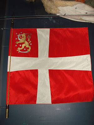 Foreign support of Finland in the Winter War - Danish Volunteer Corps flag.