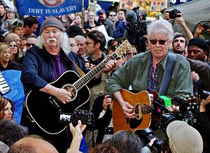 Graham Nash - David Crosby and Nash playing Occupy Wall Street, November 2011