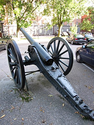 De Bange 90 mm cannon - Image: De Bange 90 mm Sotamuseo 2