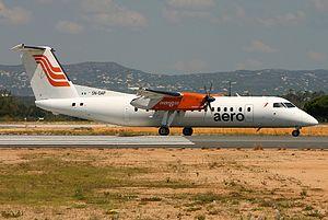 Aero Contractors (Nigeria) -  A de Havilland Canada Dash 8 of Aero Contractors in 2006, pictured at Faro Airport, Portugal