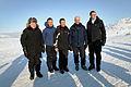 De nordiska statsministrarna njuter av utsikten i Riksgransen. Fredrik Reinfeldt Anders Fogh Rasmussen Matti Vanhanen Jens Stoltenberg och Geir H. Haarde.jpg