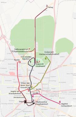 debrecen villamosvonal térkép Debrecen villamosvonal hálózata – Wikipédia debrecen villamosvonal térkép