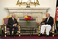 Defense.gov News Photo 110604-D-XH843-027 - Secretary of Defense Robert M. Gates meets with President of Afghanistan Hamid Karzai in Kabul, Afghanistan, on June 4, 2011.jpg