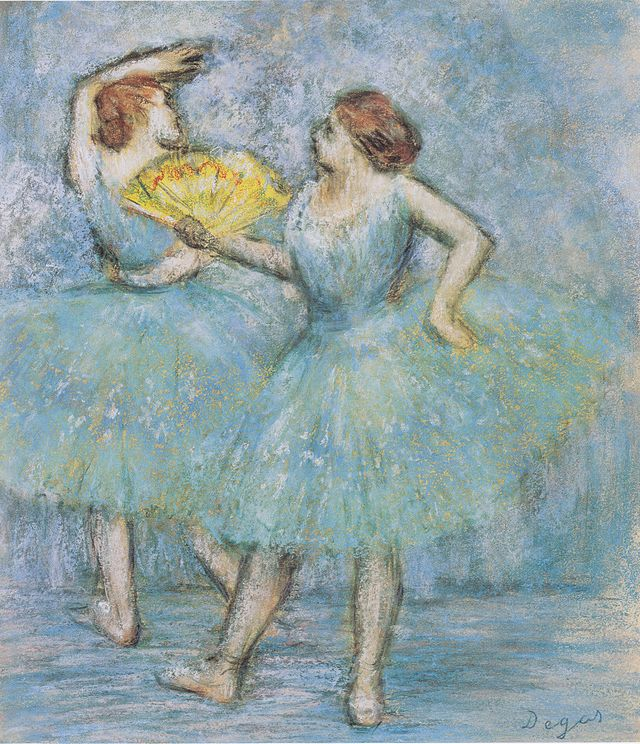 http://commons.wikimedia.org/wiki/Category:Pastels_of_ballet_dancers_by_Edgar_Degas#mediaviewer/File:Degas_-_Zwei_T%C3%A4nzerinnen1.jpeg
