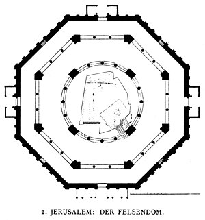 Octagon - The octagonal floor plan, Dome of the Rock.