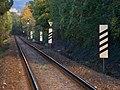Dejvice, železniční trať podél Glinkovy ulice, návěsti.jpg