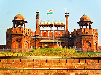 Delhi - Red Fort, a UNESCO World Heritage Site, was the main residence of the Mughal emperors for nearly 200 years. The location is currently used by the Prime Minister of India to address the nation on Indian Independence Day.