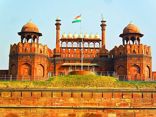 Red Fort, a UNESCO World Heritage Site, was the main residence of the Mughal emperors for nearly 200 years. The location is currently used by the Prime Minister of India to address the nation on Indian Independence Day. Delhi Red fort.jpg
