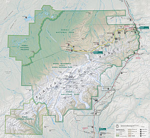 Denali National Park and Preserve - Map of Denali National Park