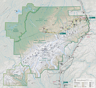 Denali National Park and Preserve - Map of Denali National Park