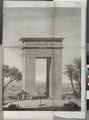 Denderah (Dandara) (Tentyris). Élévation perspective de la porte du nord (NYPL b14212718-1268099).tiff
