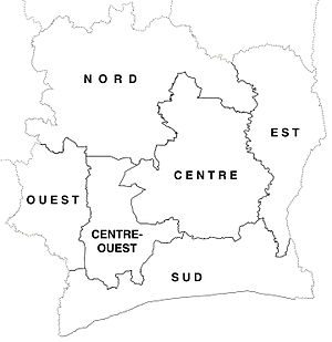 Departments of Ivory Coast - Departments of Ivory Coast in 1963–69.