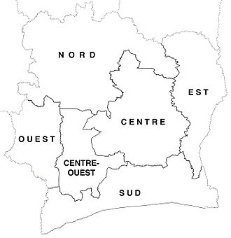 Departments of Ivory Coast in 1963-69. Departments of Cote d'Ivoire locator map labelled (1963-69).jpg