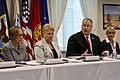 Deputy Defense Secretary Bob Work meets with members of veterans service organizations during a round-table meeting at the Pentagon, Aug. 14, 2014 140814-F-DT527-104c.jpg