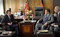 Deputy Secretary of Defense Ashton B. Carter, left, meets with Afghanistan's Minister of Defense Bismullah Muhammadi Khan, second from right, in Kabul, Afghanistan, on May 12, 2013 130512-D-NI589-606.jpg