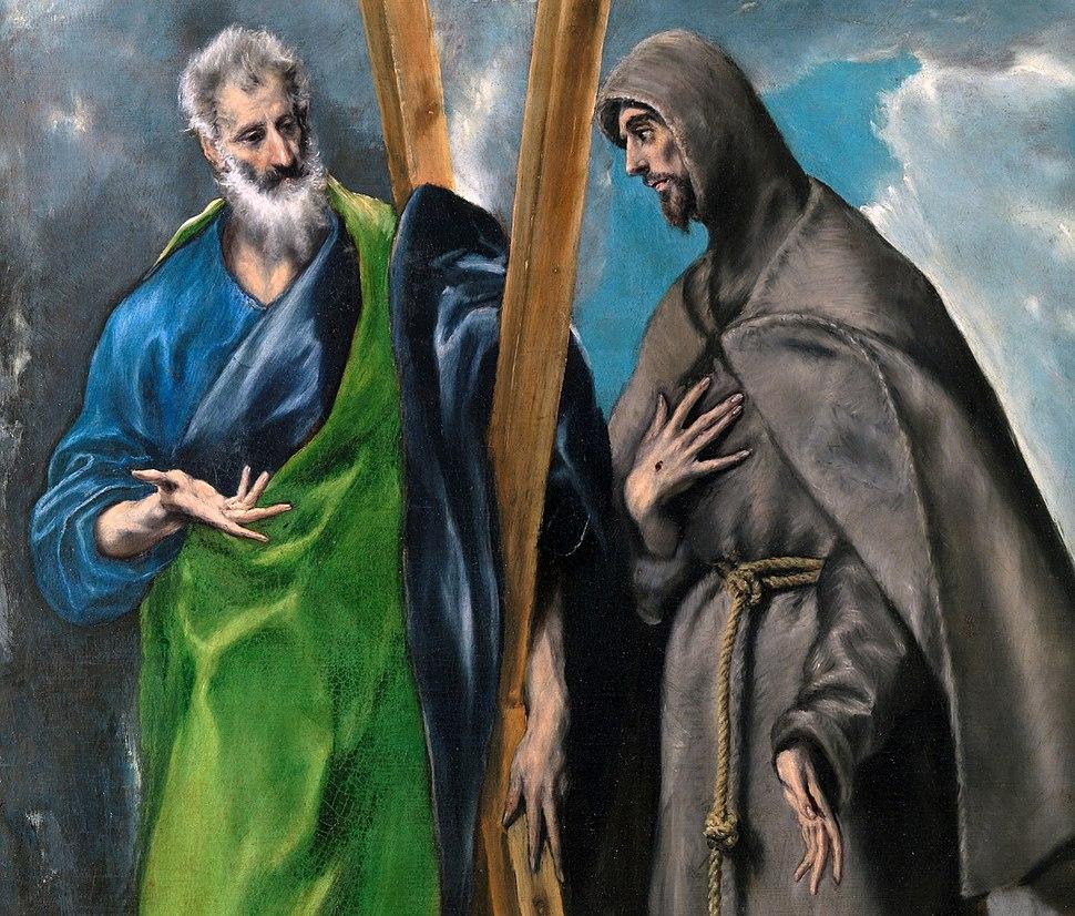 Detalle san Andres y san Francisco El Greco