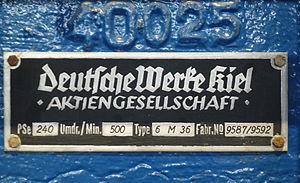 Deutsche Werke - Image: Deutsche Werke Kiel Schild 2014