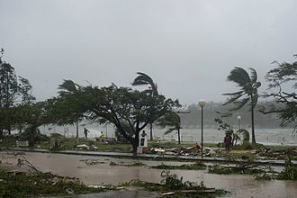 Cyclone Pam - Port Vila seafront on March 14