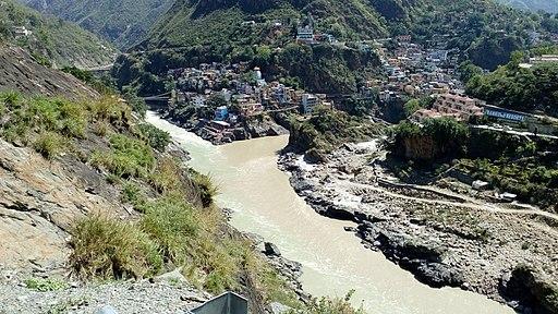 Devprayag Sangam of two holy rivers