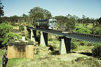 Southern railway line - 1901 south of Warwick in 1987