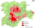 Dispersión de los topillos-Castilla y Leon-2007.png