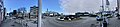 Distorted (compressed) panorama of Leirvik, Stord, Norway. Roundabout by harbour, Osen, Torgbakken, Nattrutekaien, Matkroken, Samson på Kaien, etc. 2018-03-06 b.jpg