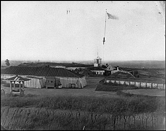 Fort Lincoln (District of Columbia) - Interior view of Fort Lincoln in 1865