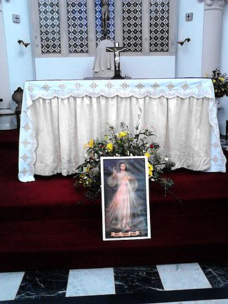 Divine Mercy Sunday - A display at the Altar on Divine Mercy Sunday at St Pancras Church, Ipswich