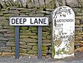 Former boundary marker denoting Luddendenfoot and Warley districts.