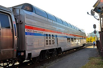Great Dome (railcar) - Ocean View in Amtrak service on the Cardinal in 2011