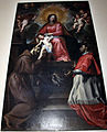 Domenico fiasella, madonna col bambino tra i ss. francesco e carlo borromeo, 1650-80 ca. 01.JPG