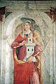 Domenico ghirlandaio, Santi Girolamo, Barbara e Antonio Abate, 1471-72, barbara 02.JPG