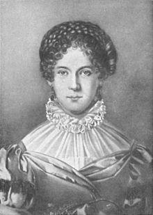 Dorette Spohr, gemalt von Caroline von der Malsburg (Quelle: Wikimedia)