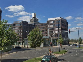 Dortmund U-Tower - Image: Dortmunder U und Verwaltungsbau