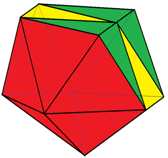 Edge-contracted icosahedron - Octadecahedron