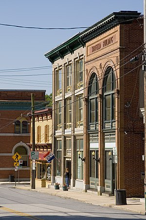 Sykesville, Maryland - Image: Downtown Sykesville