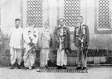 B. R. Ambedkar, Bhaurao Patil with Gadge Maharaj Baba