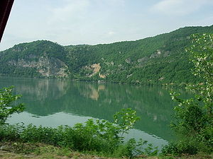Drina - The Drina River near Mali Zvornik, Serbia