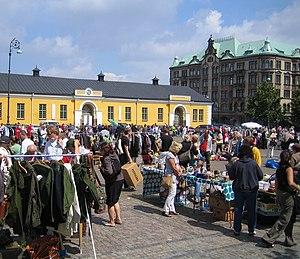 Drottningtorget, Malmö - Image: Drottningtorget, Loppmarknad, Malmö