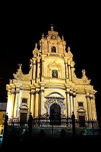 The Baroque Duomo Of San Giorgio In Ragusa Italy On Island Sicily