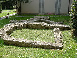 Monza - Late Roman nymphaeum at the House of Decumani.