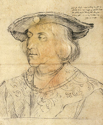 Portrait of Emperor Maximilian I - The preparatory drawing.